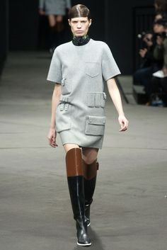 Alexander Wang. Interesting pocket details, duffel like fabric choice Chic and stylish boxy/boyish silhouette