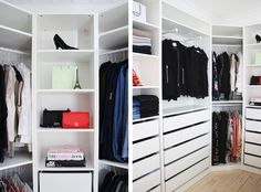 – Our walk-in-closet is almost done #happygirl – Da jeg kom hjem fra venindehygge i går eftermiddags, fik jeg verdens bedste overraskelse! Christoffer havde nemlig bygget skabene til vores walk-in-closet…