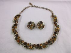 LISNER Vintage 1950's Necklace & Clip Earrings by MyLifeIsAHighway