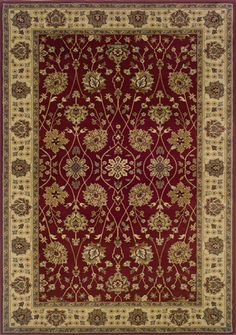 Oriental Weavers Sphinx Tybee x Red / Beige Area Rug Burgundy Rugs, Homemakers Furniture, Border Rugs, Brown Rug, Hand Tufted Rugs, Neutral Colour Palette, Custom Rugs, Floral Rug, Rug Sale