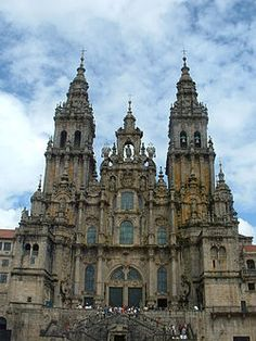 Cathedral of Santiago de Compostela in Galicia, Spain - The cathedral is the reputed burial-place of Saint James the Greater, one of the apostles of Jesus Christ. It is the destination of the Way of St. James, a major historical pilgrimage route since the Early Middle Ages. The building is a Romanesque structure with later Gothic and Baroque additions.
