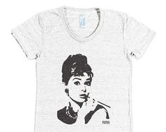 Audrey Hepburn T-Shirt, Breakfast At Tiffanys Tri Blend T Shirt, Boho Top, Soft Tshirt, Womens Clothing, Girlfriend Tshirt, Sister Gift