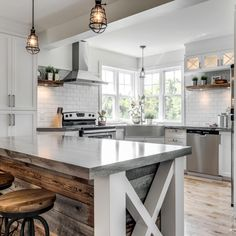 New kitchen renovations that bring in big investment increases value of . - Home Decor -DIY - IKEA- Before After Kitchen Dinning, New Kitchen, Dining Table, Modern Farmhouse Kitchens, Home Kitchens, Dining Lighting, Cuisines Design, Beautiful Kitchens, Interior Design Living Room