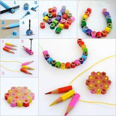 Joyas reciclando lpices de colores colored pencils diy fashion joyas reciclando lpices de colores colored pencils diy fashion and manualidades solutioingenieria Images