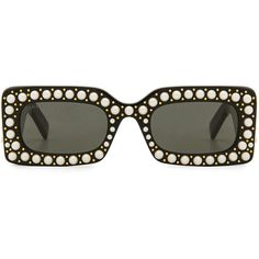 Gucci Rectangle Pearl Acetate (22.635 ARS) ❤ liked on Polyvore featuring accessories, eyewear, sunglasses, gucci eyewear, rectangular glasses, gucci, rectangle glasses and gucci glasses