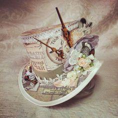 Mad Hatter, Alice in Wonderland, Steampunk Hat, Mini Top Hat, Tea Party, Sherlock, Gothic Hat, Lolita, Cosplay, Women Steampunk Hats, Party