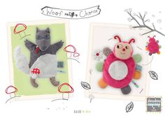 Wolf Woof and Ladybug Chance Nopnop Puppet by Kaloo