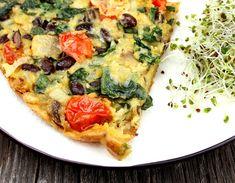 Oppskrift Kikertomelett Eggfri Omelett Middagsomelett Bønner Spinat Sopp Sunn Lunsj