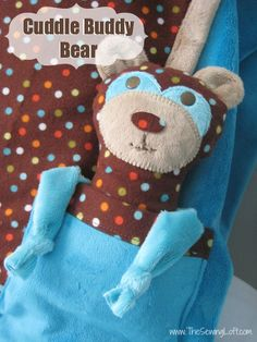 Cuddle Buddy Bear Free Pattern by The Sewing Loft  #sewing #pattern