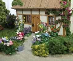 1:144 scale English cottage by Anna-Carin