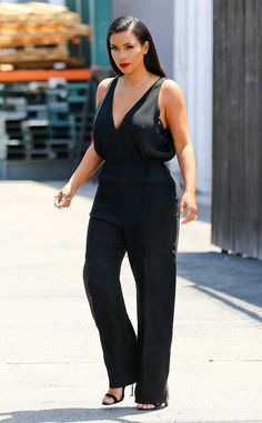 Kim Kardashian rocks a glamorous look for a meeting in L.A.