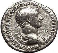 TRAJAN 117AD Authentic Ancient Silver Roman Coin Goddess of forethought i53240
