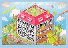 Illustrated QR codes in full colour by Am I Collective