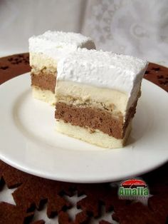 Romanian Desserts, Romanian Food, Sweets Recipes, Just Desserts, Cake Recipes, Homemade Sweets, Homemade Cakes, Cake Cookies, Cupcake Cakes