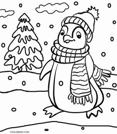 Printable coloring pages animal penguins for kids ...