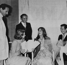 Princess Caroline of Monaco wedding dress fitting at chez Dior,with her mother Princess Grace of Monaco, designer Marc Bohan (left),and master hairstylist Alexander (behind)1978 .