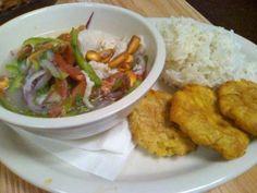 Ceviche de Pescado at Mi Patria Ecuadorian Restaurant.  Yum!
