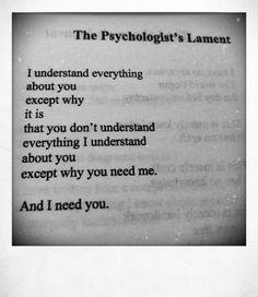 ohwhitemare:  Mar Bucknell, 'The Psychologist's Lament'