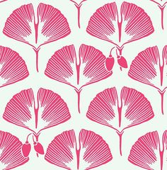Ginko Wallpaper in Pink