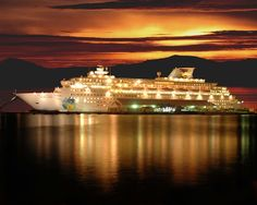 #Cruise ships always look Stunning in the moonlight.!  www.luggagesource.com