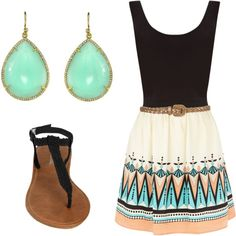I think if Pocahontas were a teenager in these times, she'd wear this. Or at least I'd like to think so.