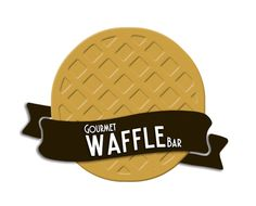 gourmet waffles bar | material gráfico