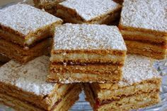 Prajitura mimoza sau prajitura albinita, Re? Honey Recipes, Sweets Recipes, Cookie Recipes, Romanian Desserts, Romanian Food, Romanian Recipes, French Desserts, Just Desserts, Russian Cakes