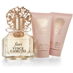 Vince Camuto Fiori 3-Piece Fragrance Gift Set (1,880 DOP) ❤ liked on Polyvore featuring beauty products, gift sets & kits, makeup, vince camuto, eau de perfume and fragrance gift sets