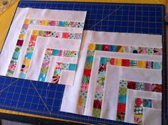 another fun block using tiny scraps... Grandma Field never threw away a scrapl... she would have loved this block