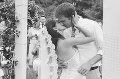 backyard Michigan wedding photography
