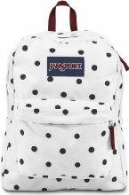 Jansport Superbreak Backpack - White / Black Gracie Dot