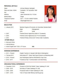 Cv Resume Sample Resume For Ojt  J  Pinterest  Sample Resume Resume