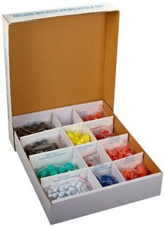 American Educational 71863 520Piece Deluxe Plastic Organic and Inorganic Chemistry Molecular Model Instructor Set 370 atom parts -- Visit the image link more details.