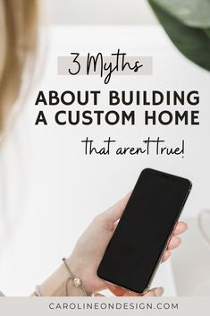Are you dreaming of building a custom home but you aren't sure it's a possibility for you because you don't have a huge budget? What if I told you that you can, indeed, build a cute and cozy little custom home that is perfect for the way your family lives? It's true. Let's dive into 3 of the top myths. Home Building Tips, Building A House, Custom Home Builders, Custom Homes, Family Life, Architecture Details, Told You So, Design, House Building Tips