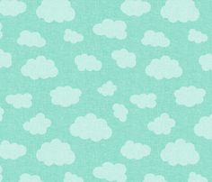 clouds_teal fabric by glorydaze on Spoonflower - custom fabric