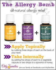 Use Lemon, Lavender & Peppermint for allergy relief!