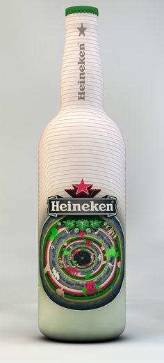 Heineken Bottle Design by Gergő Székely, via Behance