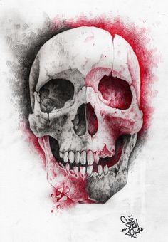 Skull art project on Behance