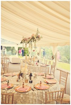 Cornish marquee  wedding pink theme
