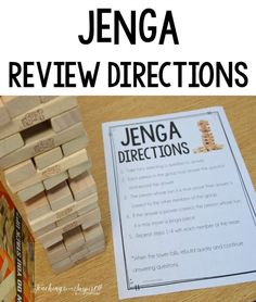 Engage students with test prep with JENGA test prep review. This post shares how to use JENGA for engaging test prep review (Love how LOW prep it is). Free printable directions included.