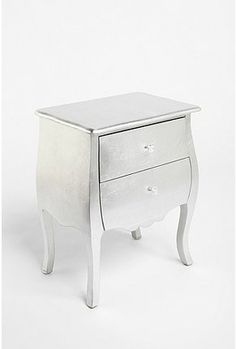 Love this silver side table