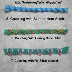 Couching Stitches