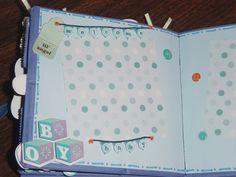 Baby Boy Paper Bag Scrapbook Album by CraftsbyLittleBeth on Etsy