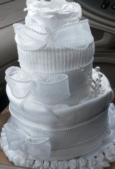 Bridal/New Home Dish towel cake by naturalTRees on Etsy