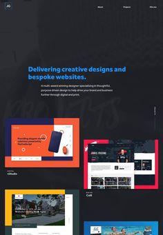 A multi-award winning designer specialising in web design, branding, motion graphics and print. Design Web, Site Design, Creative Design, Web Design Inspiration, Website Template, Branding, Templates, Digital, Web Design
