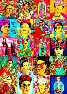 Little Frida on Behance - anns Diego Rivera, Art Pop, Frida Kahlo Portraits, Frida And Diego, San Diego, Kahlo Paintings, Frida Art, Feminist Art, Canvas Artwork