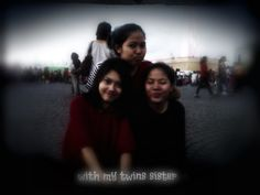 with my twins sister