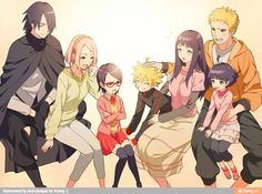 Naruto| He's all grown up now with his own family with Hinata and same with Sasuke and Sakura.