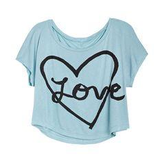 Heart & Love Tee ($20) ❤ liked on Polyvore