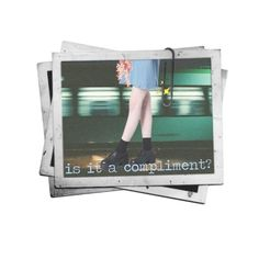 """""""is it a compliment? (ya local nbhd gal offers advice)"""" by flustered-zine ❤ liked on Polyvore featuring art"""